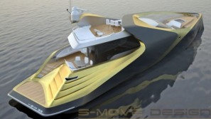 S-MOVE Design's X-SYM 125 superyacht enjoys an asymmetrical exterior design