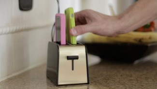 The Foaster can charge two iPhones at once