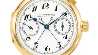 A Split Second Chronograph Watch from Patek Phillip auctioned for $2.9 Million
