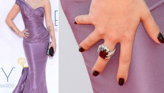 Kelly Osbourne's $250,000 black diamond nail polish manicure