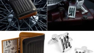 Handcrafted Leather wallets and sterling silver cufflinks crafted by Ferrari GTO experts