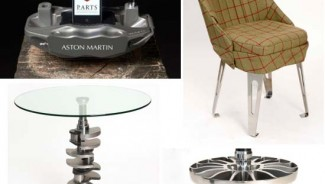 Bespoke 'upcycled' Aston Martin furniture for racing car enthusiasts