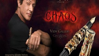 Limited edition Montegrappa 'Chaos' pen designed by Sylvester Stallone