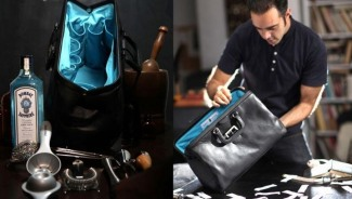 Limited edition Bombay Sapphire bar bag packs in high-end bar tools to call for a party anywhere