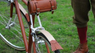 One-off luxury bicycle by jeweller Nicholas James is leather-clad with real diamonds