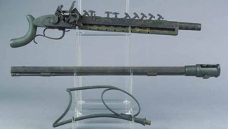 """Jennings 12 shot repeating flintlock rifle with serial number """"No. 1"""" goes for sale"""