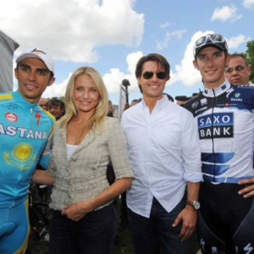 Alberto Contador and Tom Cruise