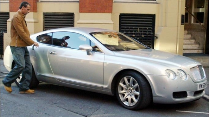 photo of Rio Ferdinand Bentley Continental : Grey Edition - car