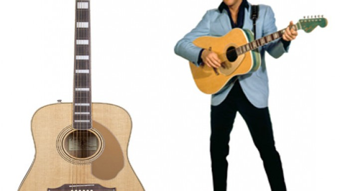 Fender recreates the King of Rock N Roll with the Elvis Kingman acoustic guitar