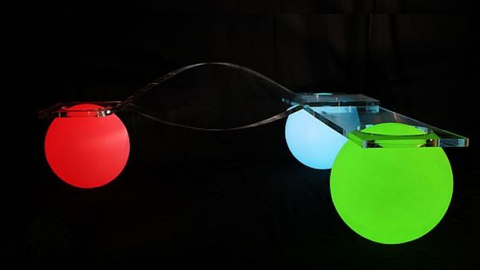 Glowing light ball bench for futuristic outdoor aesthetics