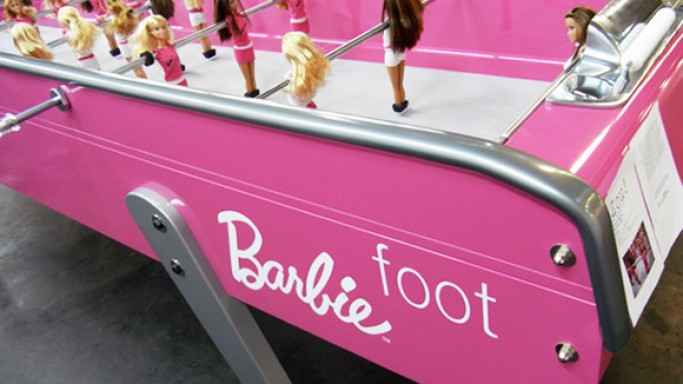 Barbie football table