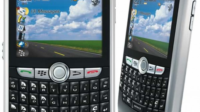 The ace swimmer relies on his BlackBerry 8800 for communication