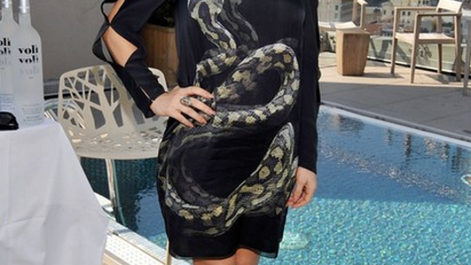 Fergie was spotted in March this year attending her press day at The James Hotel in New York City wearing a Lanvin Snake Print Silk Shift Dress