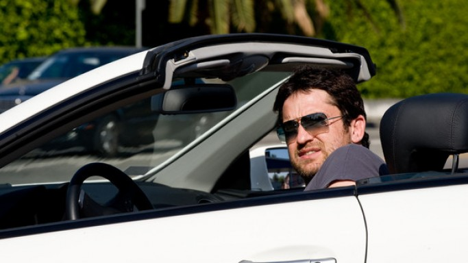 The actor drives around in a $120,000 white Mercedes-Benz SL550, a convertible featuring a retractable sun roof.