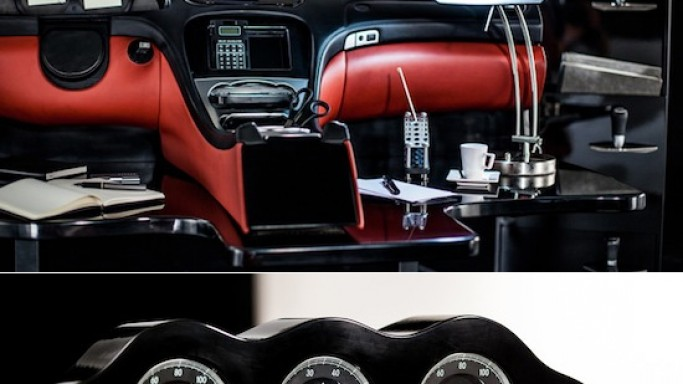 Mercedes-Benz SL interiors repurposed into office furniture