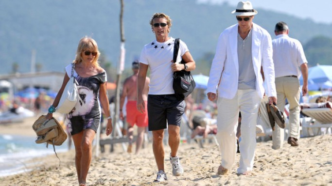 Liam Neeson on vacations in St. Tropez