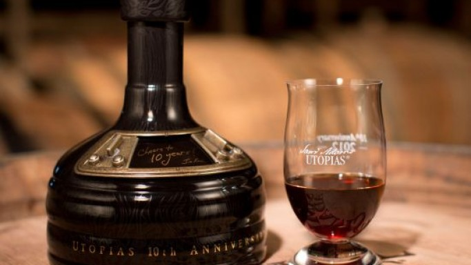 Samuel Adams Utopias beer aged in bourbon casks