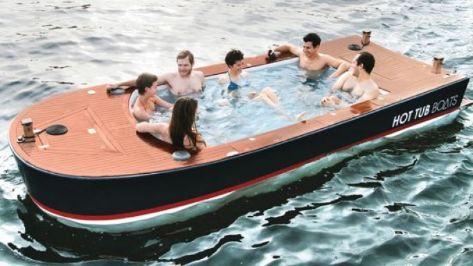 $42,000 Hot tub electric boat is fitted with a waterproof stereo system and on-board chargers
