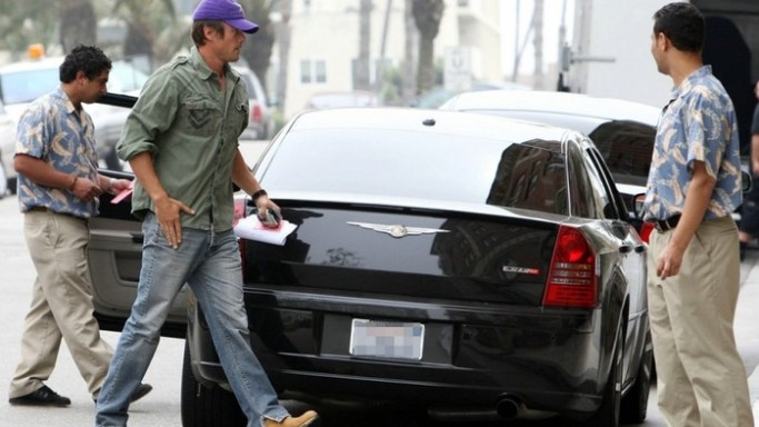 Josh Duhamel drives Chrysler 300C SRT-8