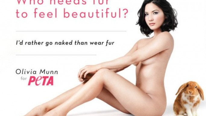 Olivia Munn supports PETA foundation