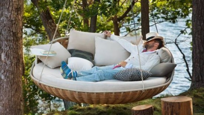 Daniel Pouzet designed Dedon SWINGREST is perfect for hanging on the terrace, verandah, or indoors