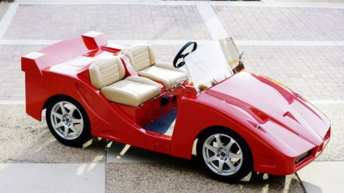 Lamborghini look alike golf cart by Pennwick costs $20,500