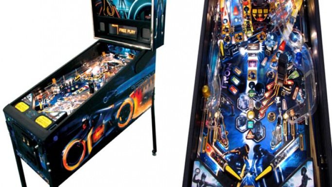 TRON legacy pinball machine: Playing the fantasy in your living room