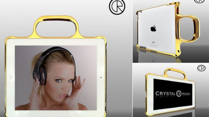 Crystal Rocked creates 24ct Gold & Chrome bumper cases for iPad 2
