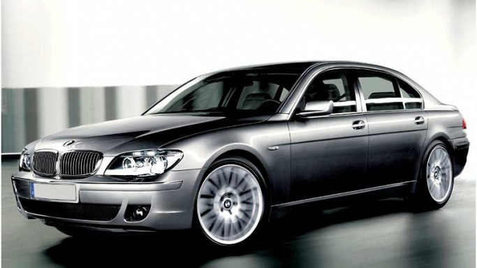 BMW 7-Series car - Color: Silver  // Description: expensive