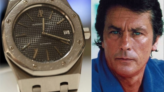 "Audemars Piguet ""Royal Oak"" worn by French film actor Alain Delon sold for a record price"