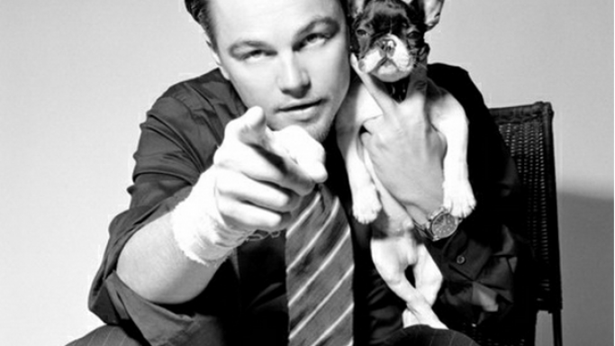Leonardo and his french bulldog