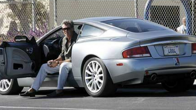 photo of Pierce Brosnan Aston Martin Vanquish - car