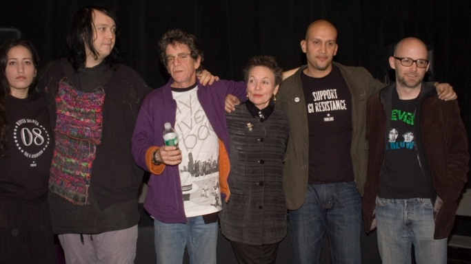 Moby attends a benefit Concert for Peace in Iraq