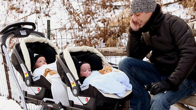 This Latino singer has been spotted numerous times putting his twins in this all-weather proof twin stroller on his outings.