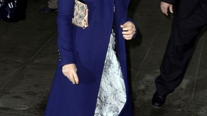 Wilde was snapped carrying the Valentino Clutch at the museum of modern Arts in November 2011.