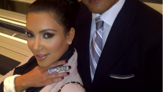 Kim Kardashian has been spotted wearing the latest Ring by Jacob & Co.