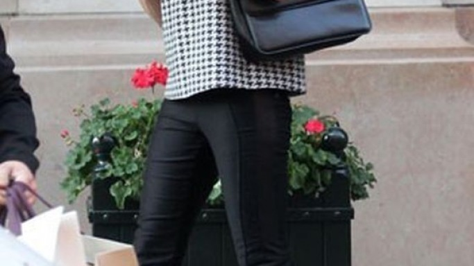 Stella McCartney was spotted carrying the black-colored Grace Bag