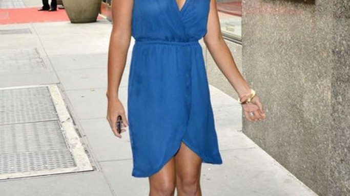 Kendra wears Blaque Label Silk Tulip Dress