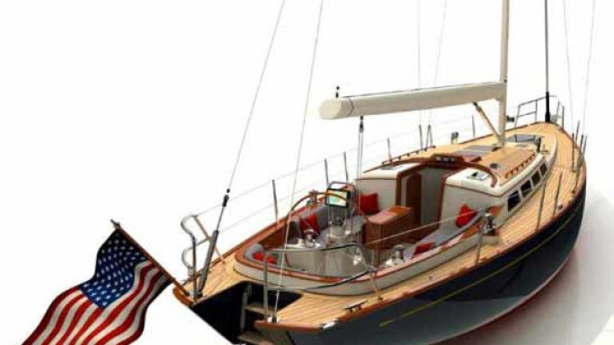 Morris Yachts New M46 Sailing Yacht with hand crafted details for discerning owners