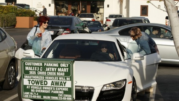 Ozzy Osbourne drives Audi R8
