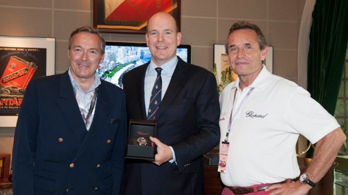 Karl-Friedrich Scheufele, Co-President of Chopard and Prince Albert II and Jackie Ickx
