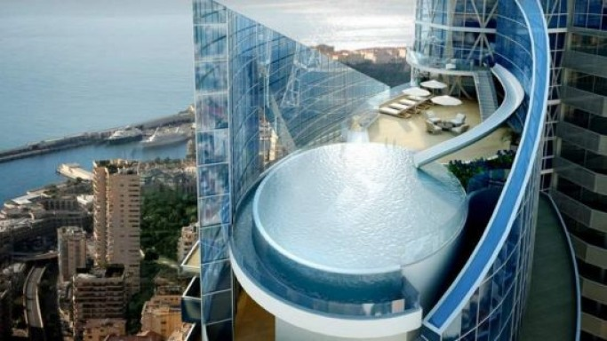 $360 million Monaco penthouse boasts an infinity pool with attached slide