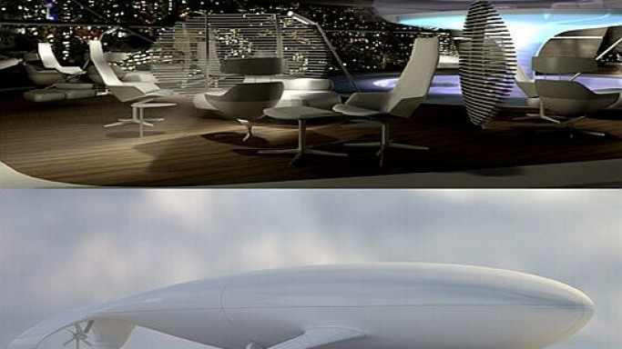 Manned Cloud by Massaud Studio – The flying eco-hotel!