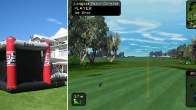Tee off, right at home with the Eball Golf Simulator