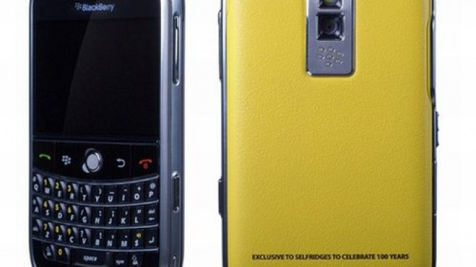 Selfridges commissions limited edition yellow BlackBerry Bold