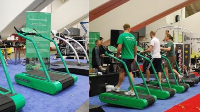 Enjoy eco-friendly workouts with the Woodway EcoMill treadmill