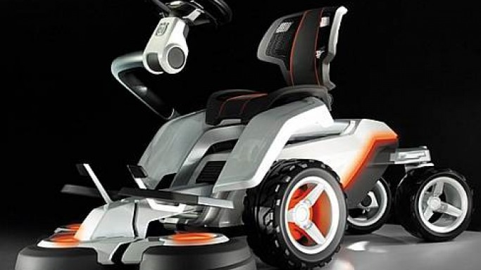 Husqvarna Panthera Leo lawnmower concept merges tech with nature