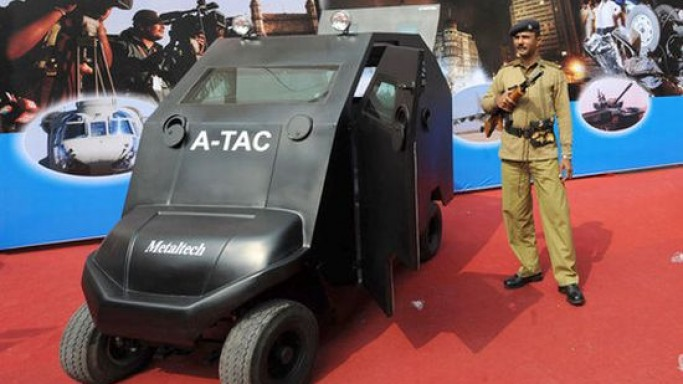 The $45,000 anti-terrorist armored electric car doubles as a golf cart