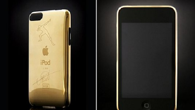 Goldgenie unveils Usain Bolt signature gold plated iPod touch
