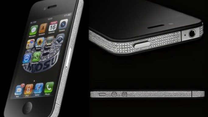Alexander Amosu unveils the iPhone 4 Diamond Spider